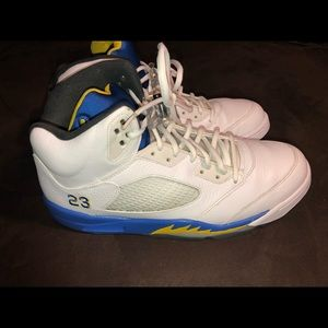 Jordan laney 5 from 2013 blue yellow